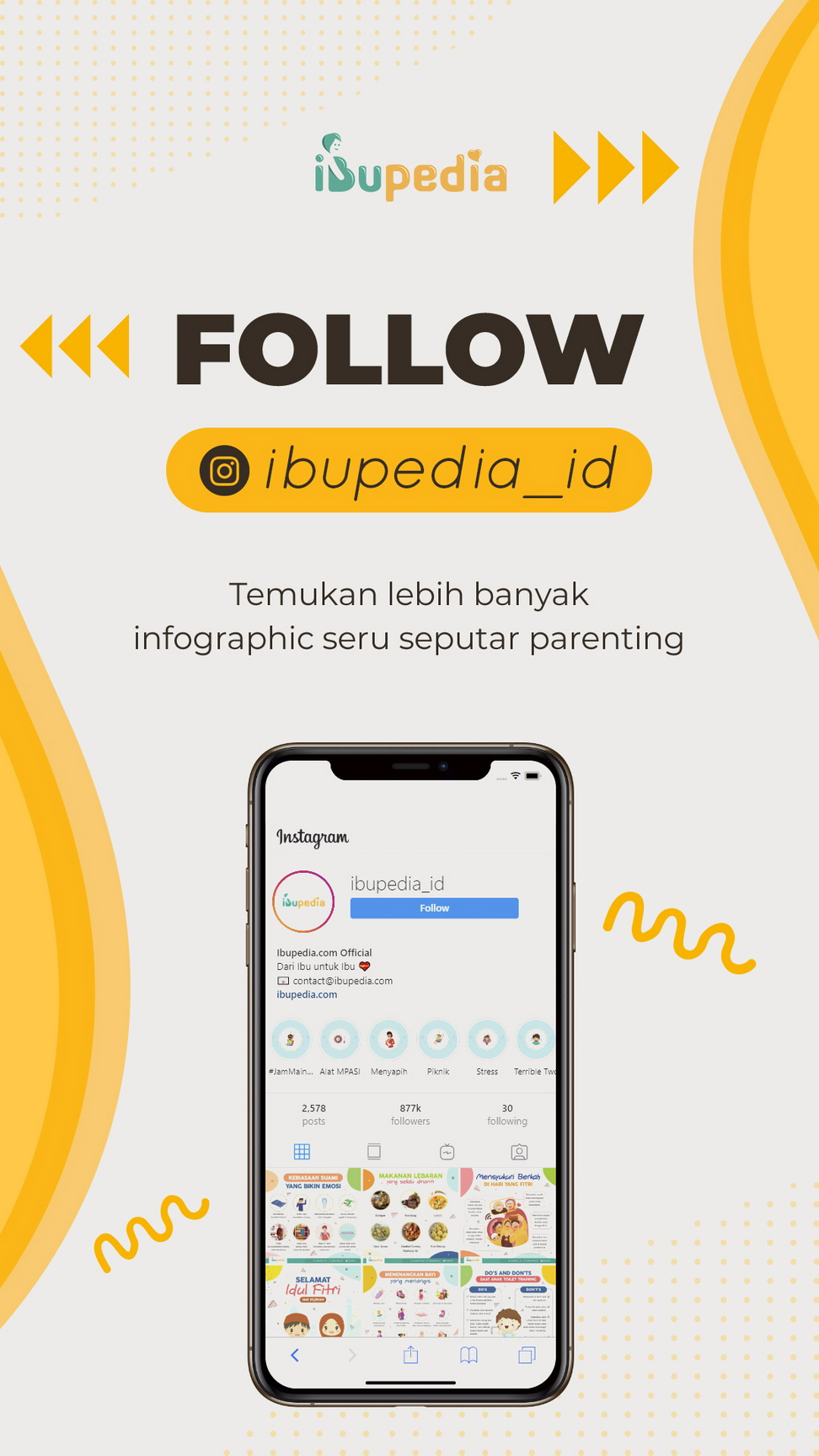 Follow Ibupedia Instagram